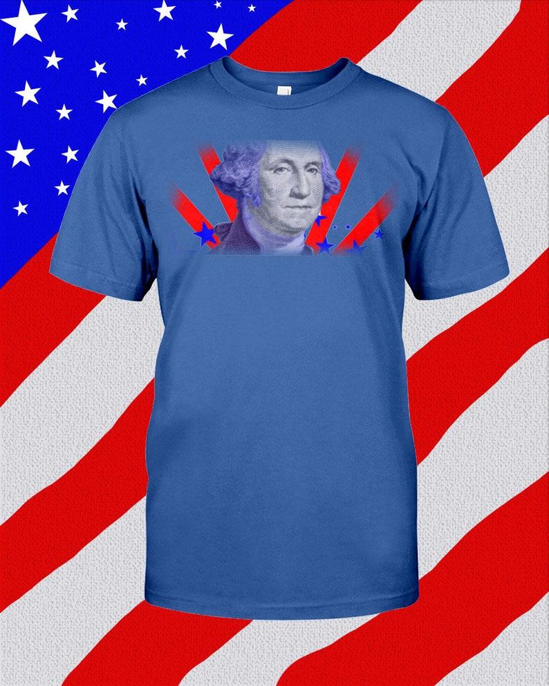 10151026 Party Washington American Flag Unisex T-Shirt Any Color | Etsy