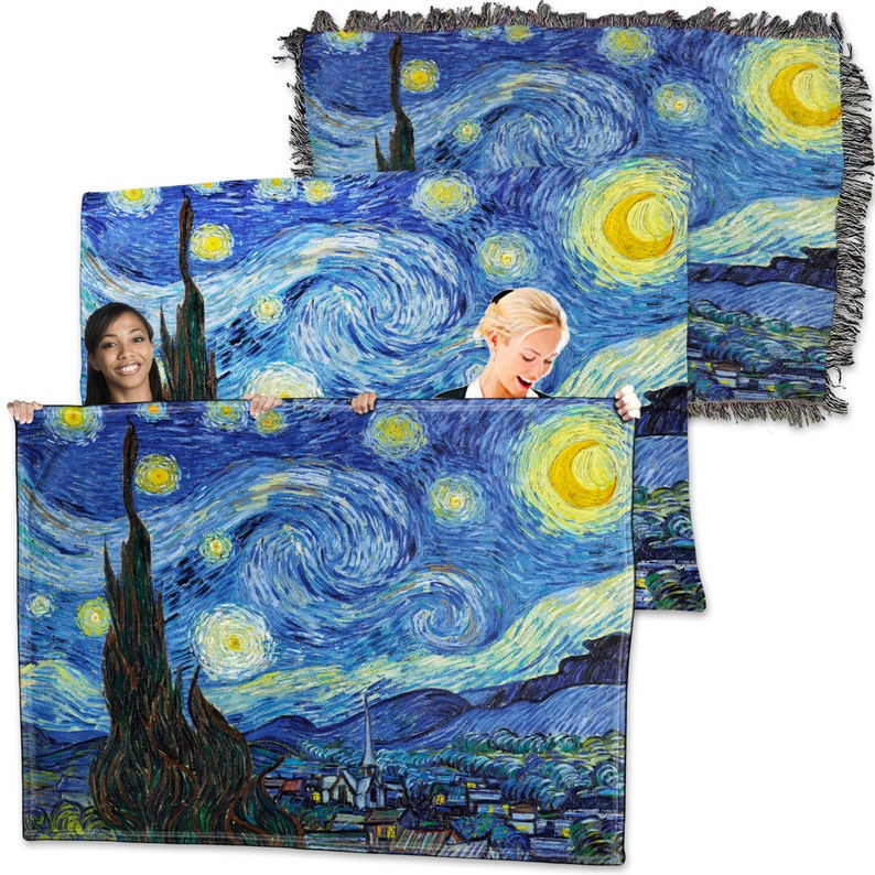 Vincent Van Gogh Starry Night Throw Blanket Tapestry Wall Hanging