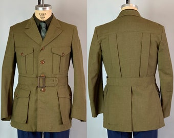 777aa354679 1930s BSA Scoutmaster Belted Jacket