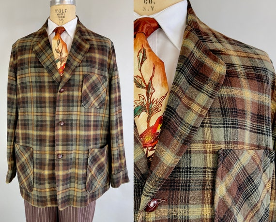 """1950s Peter's """"Pendleton"""" Camp Jacket 