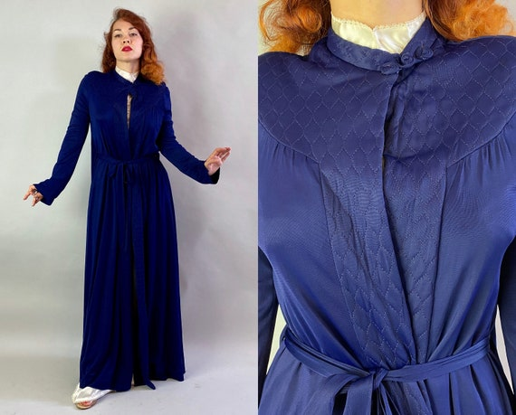 1940s Lady of the House Dressing Gown Coverup | Vi