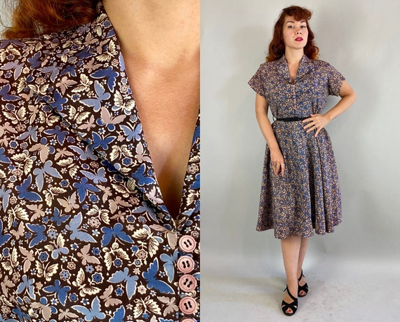 1940s Beguiling Butterflies Dress | Vintage 40s Ma