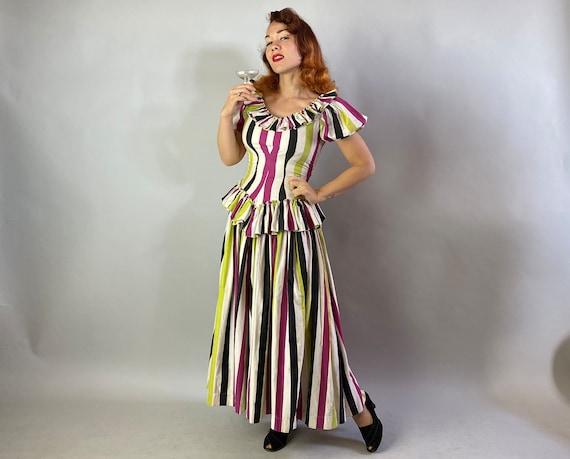 1940s Big Top Ball Gown   Vintage 40s Cotton Dres… - image 6