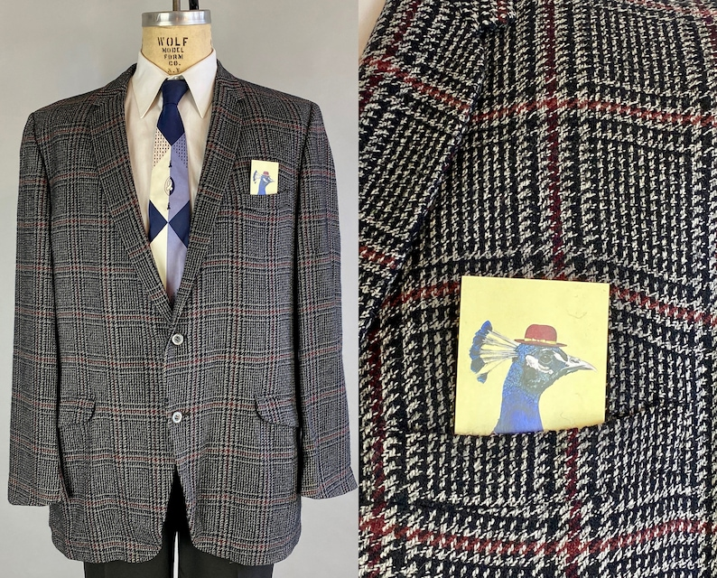 1950s Mens Suits & Sport Coats | 50s Suits & Blazers 1950s Sportsocat Overattired $195.00 AT vintagedancer.com