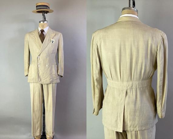 1940s Tropical Trip Suit   Vintage 1940s Oatmeal B