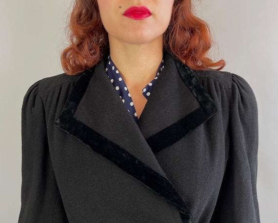 1930s Puffed with Pride Coat | Vintage 30s Black … - image 5