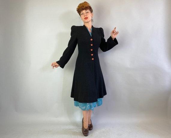 1930s Proud Princess Coat | Vintage 30s Black Tex… - image 6