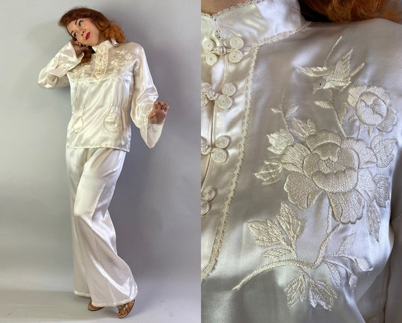 1940s Sweetheart Souvenir Pajamas Set | Vintage 40