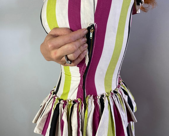 1940s Big Top Ball Gown   Vintage 40s Cotton Dres… - image 10