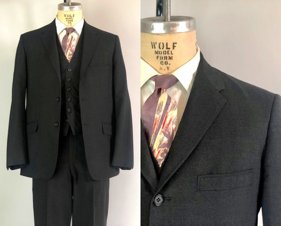 """1960s Three Piece Dated Suit 