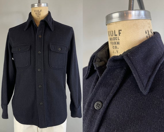 """1950s Winter Warmth """"CPO"""" Shirt 