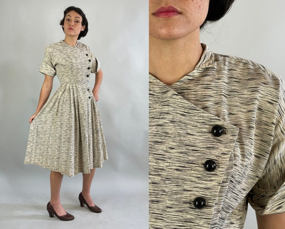 """1940s Sassy Static Frock 