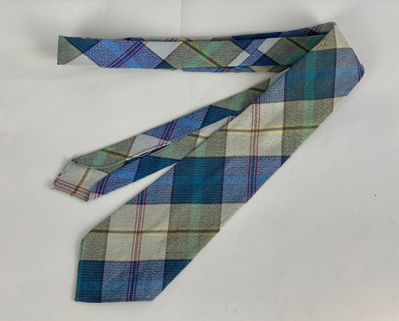 """1930s Wool Plaid Necktie 