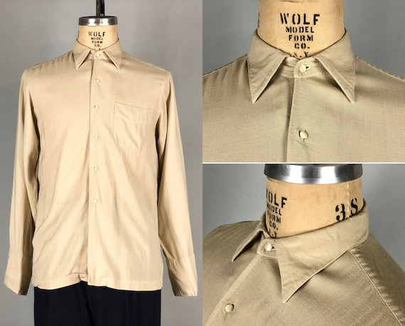 """1930s Mens Oatmeal Shirt 