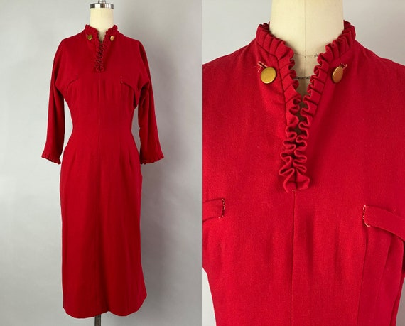 """1940s Festive Fiona Frock 