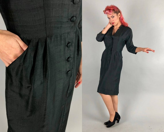 """1950s Silk Dress 