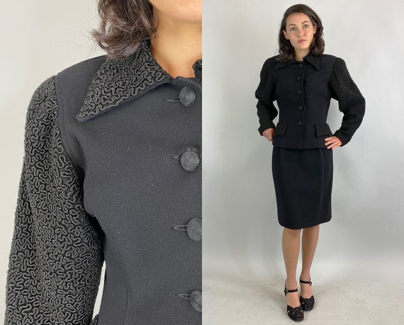 """1990s Does 1940s """"Oscar De La Renta"""" Suit 