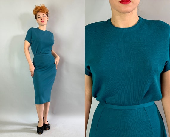"""1950s Peacock Sweater Knit Set 