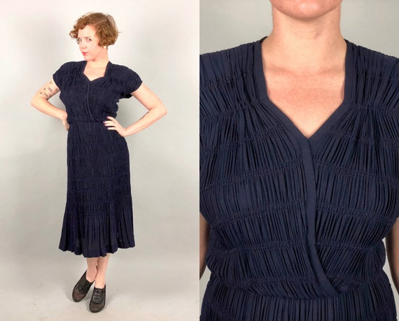 """1940s """"Gothé"""" DESIGNER Dress 