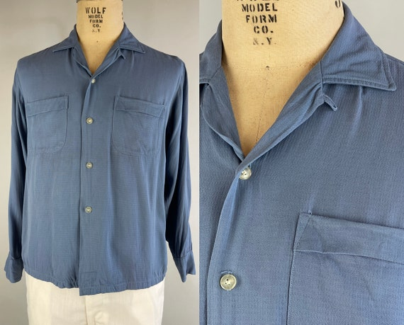 """1950s Well Rounded """"Richman"""" Shirt 