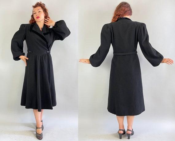 1930s Puffed with Pride Coat | Vintage 30s Black … - image 8