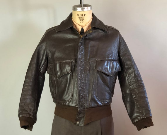 """1940s Fly Boy A-2 Leather Jacket 