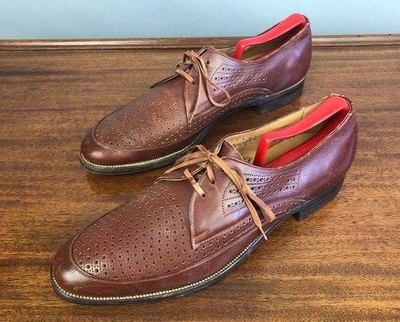 """1930s Ventilated Broguing Oxfords 