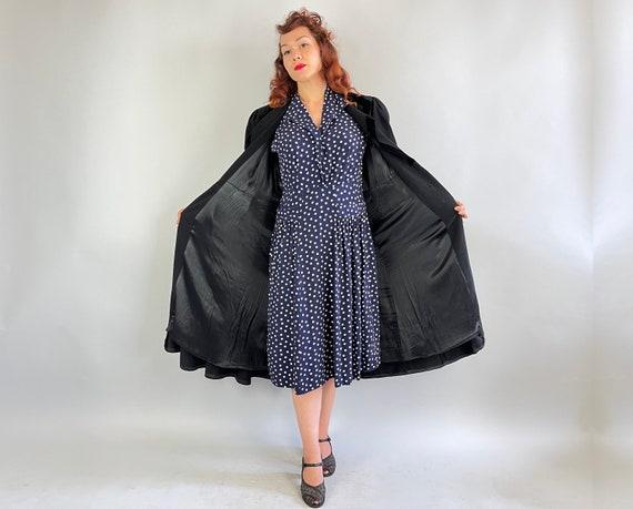 1930s Puffed with Pride Coat | Vintage 30s Black … - image 10