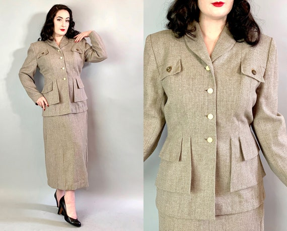 """1940s Skirt Suit 