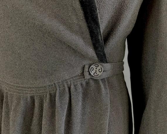 1930s Puffed with Pride Coat | Vintage 30s Black … - image 3