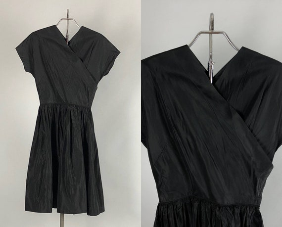 """1940s Silk Taffeta Dress 