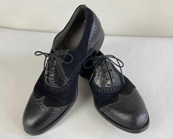 1940s Man of Distinction Shoes | Vintage 40s Black
