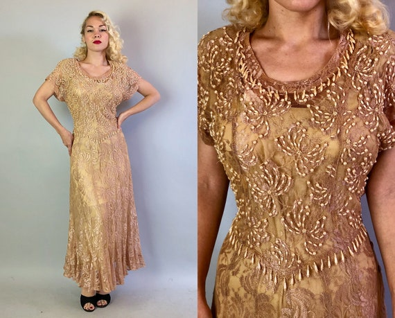 """Vintage 1990s Does 1930s Dress 