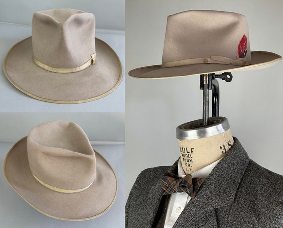 """1940s Stylish """"Stetson"""" Fedora 