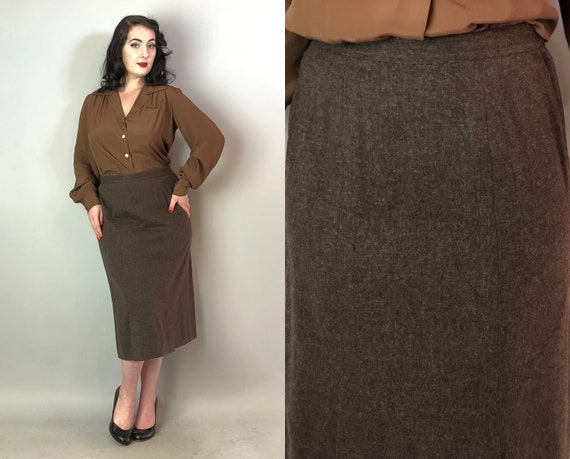 """1940s Secretary Pencil Skirt 