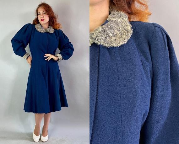 1930s Proud Princess Coat | Vintage 30s Midnight B