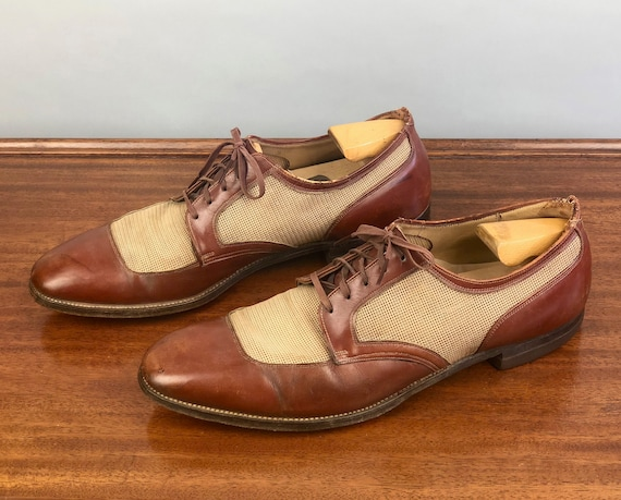 """1940s Mens Ventilated Shoes 