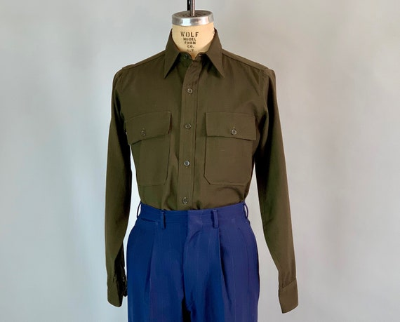 "1940s ""Jayson"" Wool Shirt 