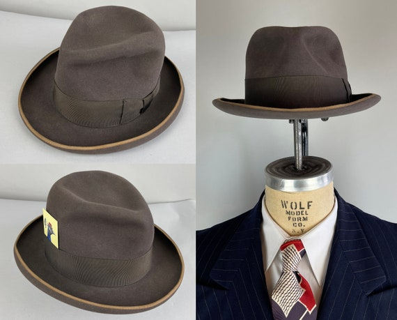 """1940s """"Stetson"""" Homburg Fedora 