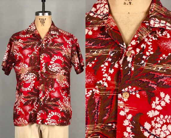 "1950s 1960s by ""Artvogue"" Hawaiian Shirt 