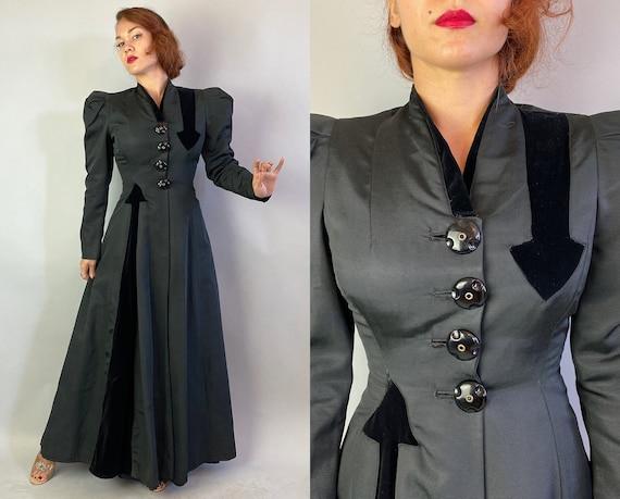 1930s Does Victorian Coat | Vintage 30s Black Silk