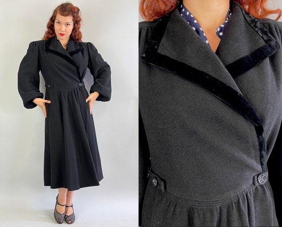 1930s Puffed with Pride Coat | Vintage 30s Black … - image 1