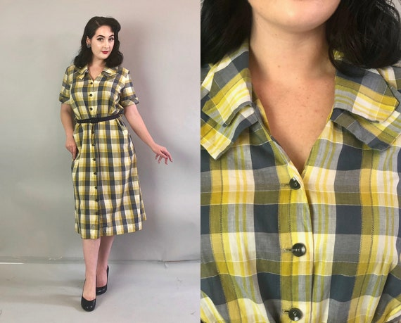"""1950s Two-Tone Volup Dress 