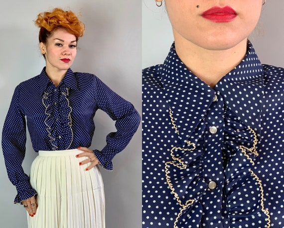 """1960s Frilly Franny Blouse 