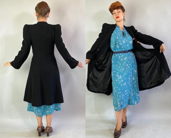 1930s Proud Princess Coat | Vintage 30s Black Tex… - image 10
