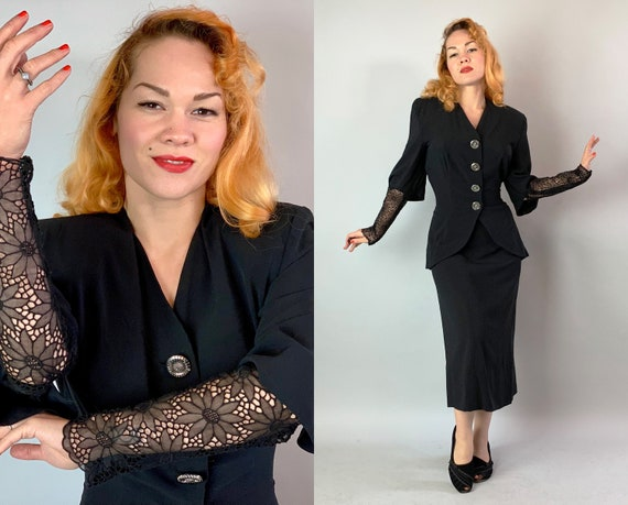 """1940s Fierce Vamp Suit 