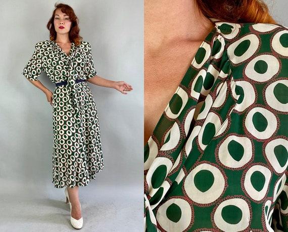 1940s Round and Around Dress | Vintage 40s Forest
