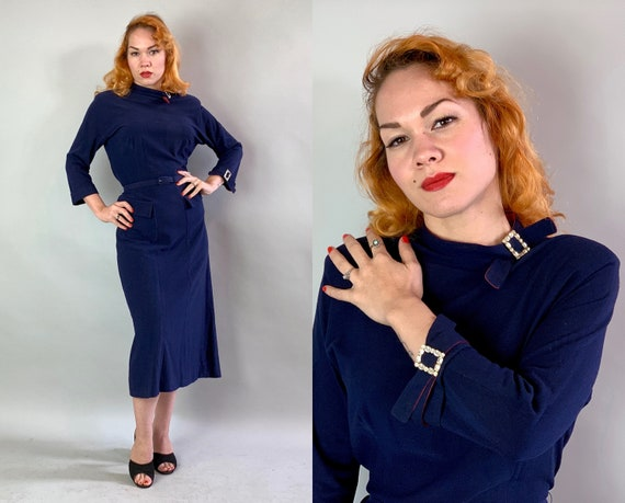 """1940s Elegant Winter Cocktail Dress 