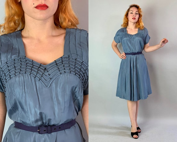 "1940s ""Young Hearted"" Sweetheart Dress 