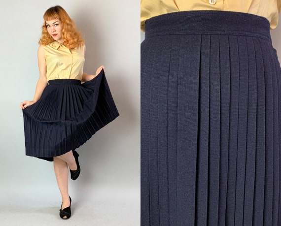 "1940s ""City of Paris"" Pleated Skirt 